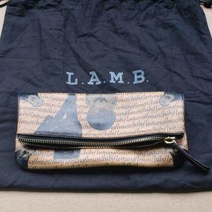 L.A.M.B. fold-over clutch